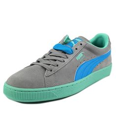 Puma Classic+ Lfs Men Round Toe Suede Gray Sneakers', Grey