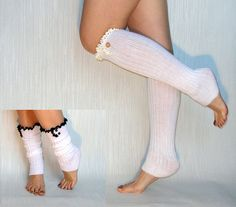 Boot Sock Leg Warmer  white Boot Socks with by TTAccessories, $14.99