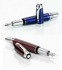 Montblanc Boheme Pens, blue and red