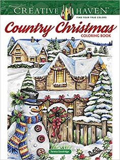 Creative Haven Country Christmas Coloring Book (Creative Haven Coloring Books) Christmas Colors, Christmas Ornaments, Xmas, Book Outlet, Creative Haven Coloring Books, Adult Coloring Book Pages, Dover Publications, Z Arts, Penguin Books