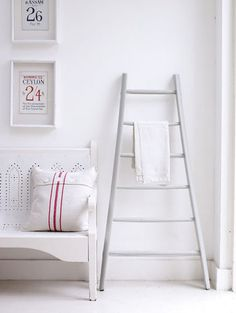 wish I had space for this ladder to hold the blankets in the family room
