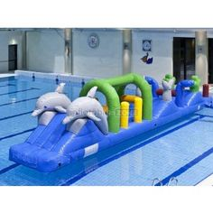 Play inflatable slip and slide for sale