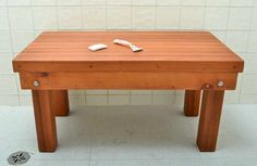 Biuld your own Cedar Shower Bench: Cedar Shower Bench With Floor Tiles . Wood Shower Bench, Bathroom Bench, Basement Bathroom, New Bathroom Ideas, Modern House Design, Open Shelving, Barn Wood, Home Projects, Tile Floor