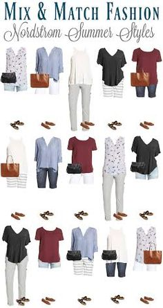 Are you a Nordstrom shopper? We put together a capsule wardrobe of affordable summer style featuring a few key pieces of mix & match fashion so you can put together many different outfits. You can replicate these summer styles from Urban Fashion, Trendy Fashion, Fashion Outfits, Womens Fashion, Classy Fashion, Fashion Hats, Fashion Watches, Mix And Match Fashion, Matches Fashion