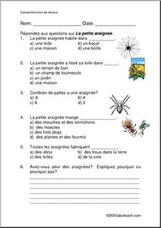 french reading comprehension worksheets french language and culture for the classroom. Black Bedroom Furniture Sets. Home Design Ideas