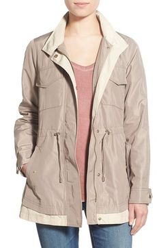 French Connection Two-Tone Hooded Anorak available at #Nordstrom