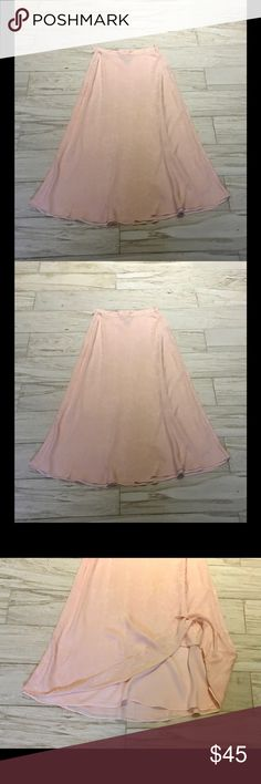 Fabulous🌹August Silk🌹Silk Maxi Skirt!!🌺🌼🌸EUC! Beautiful Silk Fabric!! Side Zipper. Fully Lined. august silk Skirts Maxi
