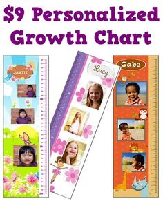 Personalized Growth Chart: $9.00 + s/h!