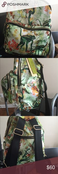 Imported Asian Fashion Backpack Korean Cotton feels like silk but scratch resistant very durable design is in the fabric it's not screen printed this is a high quality product not cheaply made tags are in Korean language korean  Bags Backpacks