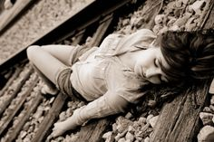Railroad Photography..Senior picture idea.
