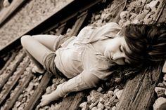 Railroad Photography..Senior picture idea.