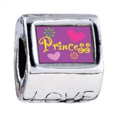 Princess Hearts And Flowers Photo Love Charms  Fit pandora,trollbeads,chamilia,biagi,soufeel and any customized bracelet/necklaces. #Jewelry #Fashion #Silver# handcraft #DIY #Accessory