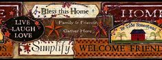 country signs wall border