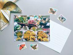 Cartolina Fotografica, Mercato Galleggiante, Bangkok,  biglietto auguri, decorazione casa, idea regalo di ThePostcardsFactory su Etsy