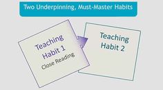 Watch: Developing Common Core Habits (6 min video)