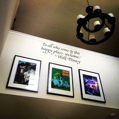 Disney-themed entryway