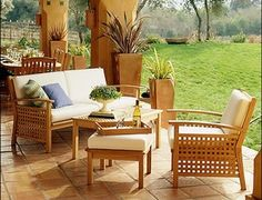 Teak patio furniture accommodates the needs of homeowners and all outdoor activities. the furniture gives comfort and quality to all outdoor spaces. Teak Garden Furniture, Outdoor Furniture Sets, Tree Seat, Outdoor Spaces, Outdoor Decor, Table And Chair Sets, Patio Table, Adirondack Chairs, Home Decor