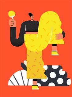 5 Graphic Design Predictions for 2019 Art And Illustration, People Illustration, Illustrations And Posters, Character Illustration, Grafik Design, Drawing People, Branding, Graphic Design Inspiration, Vector Art