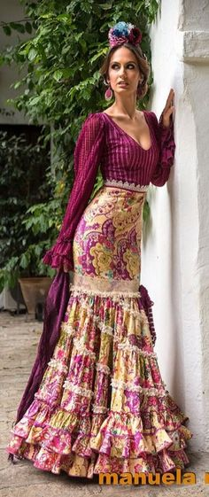 Gypsy Style, Bohemian Style, Boho Chic, My Style, Flamenco Dresses, Flamenco Dancers, Boho Fashion, Vintage Fashion, Womens Fashion