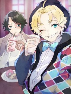 I ship them Persona 5 Joker, Identity Art, Cool Drawings, Cute Art, Anime Guys, Amazing Art, Character Design, Kawaii, Animation