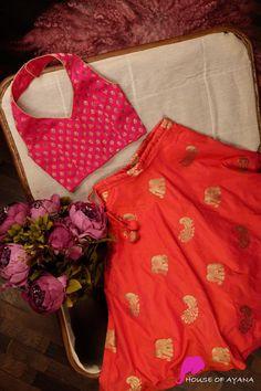 Kids: Girls & Boys - House of Ayana Baby Girl Dress Design, Girls Frock Design, Kids Frocks Design, Baby Frocks Designs, Kids Lehanga Design, Kids Party Wear Dresses, Kids Dress Wear, Little Girl Dresses, Kid Dresses