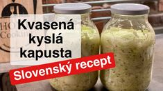 Domáca kvasená kyslá kapusta v pohári  Slovenský recept Pickles, Sweet Potato, Cucumber, Vegetables, Health, Youtube, Cheerleading, Health Care, Veggies