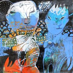 "Saatchi Art Artist Rusudan Khizanishvili; Painting, ""Strangers"" #art"