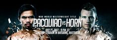 Manny Pacquiao, 38, will fight off of pay-per-view for the first time since 2005. He will defend his WBO Welterweight Title in the backyard of his opponent, Jeff Horn. The fight will be at Brisbane's Suncorp Stadium. ESPN will broadcast the fight in the US for free starting at 9 pm EST.