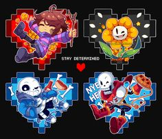 Undertale keychains! ♥ I will sell them online soon~ Keychains [BACKSIDE] | More UT art |