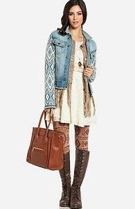 Lace dress + winter