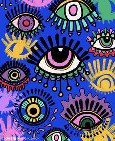 Witchy Wallpaper, Hippie Wallpaper, Evil Eye Art, Eye Illustration, Satanic Art, Indie Art, Arte Pop, Diy Canvas Art, Small Art