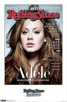 ADELE - ROLLING STONE  22.25 X 34  MUSIC POSTER posters