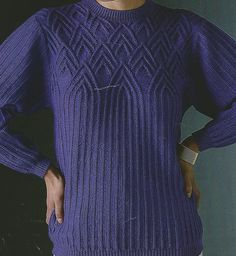 MODÈLES POUR FEMMES Knitting Patterns Free, Free Pattern, Pulls, Points, Dresses With Sleeves, Pullover, Long Sleeve, Sweaters, Table