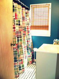 love this pottery barn shower curtain
