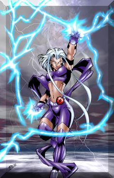 Ororro Munroe-Code Name: Storm - Mutant Abilities: Weather manipulation, Energy perception, Ecological empathy, Resistance to the effects of the weather and extreme temperatures.