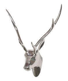 Another great find on #zulily! Silver Metallic Deer Head #zulilyfinds