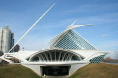 The Milwaukee Art Museum, Milwaukee WI -- A great space. Don't miss if you are ever in the vicinity.