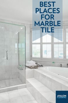 From its sophisticated beauty to its renowned radiance, marble tile has long been associated with trendy lavish homes. Installing marble tile can make a statement in your house, but there are some interior spaces that are better suited than others. Here are some of the best places you can install marble tile in your home.
