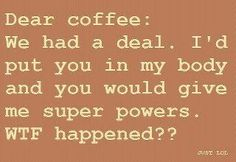 Oh yeah. I forgot. The power you gave me was to deal with people....and not hurt them.
