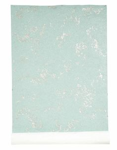 Aqua Wallpaper with silver leaf and tiny glass beads- by Maya Romanoff