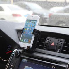 [USD0.95] [EUR0.86] [GBP0.67] Car Outlet Cell Phone Holder (Colour: Black)