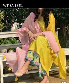 Indian kurta dress With dupatta sharara palazzoTop Tunic Set blouse Combo Ethnic #Radhas #FitFlareDressTunicDress #AnyOccasion