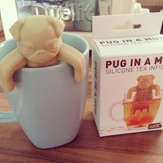 I'm not sure why no one has bought this for me! Pug in a mug tea diffuser