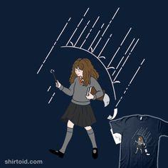 Reviewing Spells | Shirtoid #book #film #harrypotter #hermionegranger #marianosan #marianosanchezlorente #mortonsalt #movies #wizard
