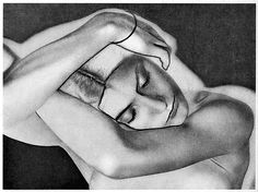Man Ray was a young American photographer/artist from Philadelphia who met Marcel Duchamp in 1915 and was so impressed by DaDa that he moved to Paris after WWI ended. He joined the Surrealists movement while working as a professional photographer and developed new darkroom effects such as studio setups with moving lights, beams of light, solarization, the reversal of tonal complexities, distortion, multiple exposures, and cameraless prints that he called rayographs.