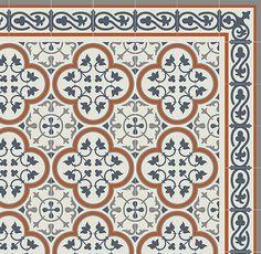 Camper Fun! PVC vinyl mat Tiles Pattern Decorative  linoleum rug Orange