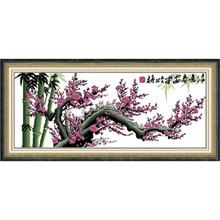 Cross Stitch Kit  Cherry Blossoms by CrossStitchKitsOnly on Etsy, $30.00