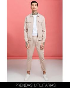 FASHION WORK : ¡10 TENDENCIAS HOMBRE OTOÑO -INVIERNO 2020! Co Ords Outfits, Bomber Jacket Outfit, Outfits Hombre, Casual Outfits, Men Casual, Le Polo, Harrington Jacket, Suit Accessories, Looking Dapper