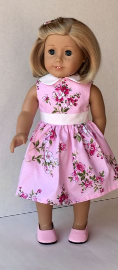 87b3544510 Doll Clothes American made Doll Dress Fits 18 Girl Doll Barbie Clothes