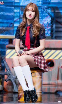School Uniform Fashion, School Girl Outfit, Kpop Outfits, Girl Outfits, Cute Outfits, Cute Asian Girls, Beautiful Asian Girls, Skinny Asian, Oh My Girl Yooa